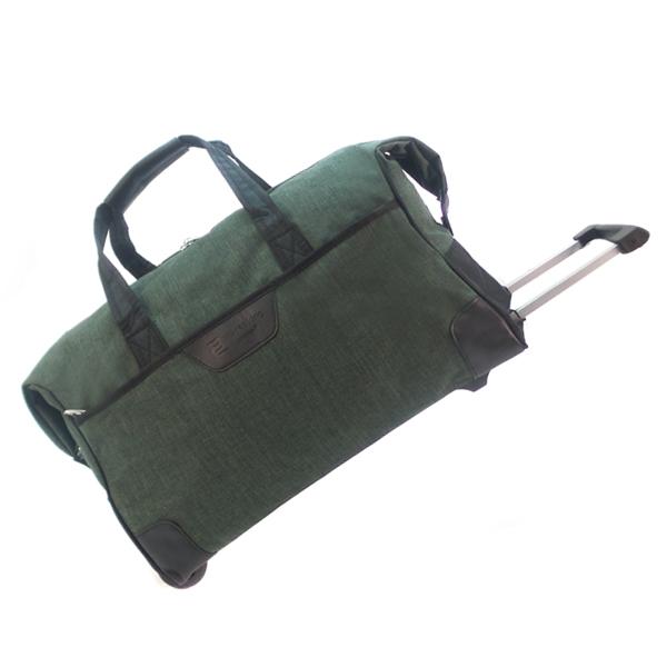 Дорожная сумка на колесах. 30204 green