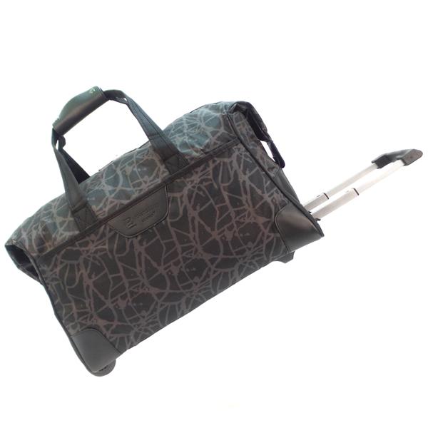Дорожная сумка на колесах. 30204 grey stripe