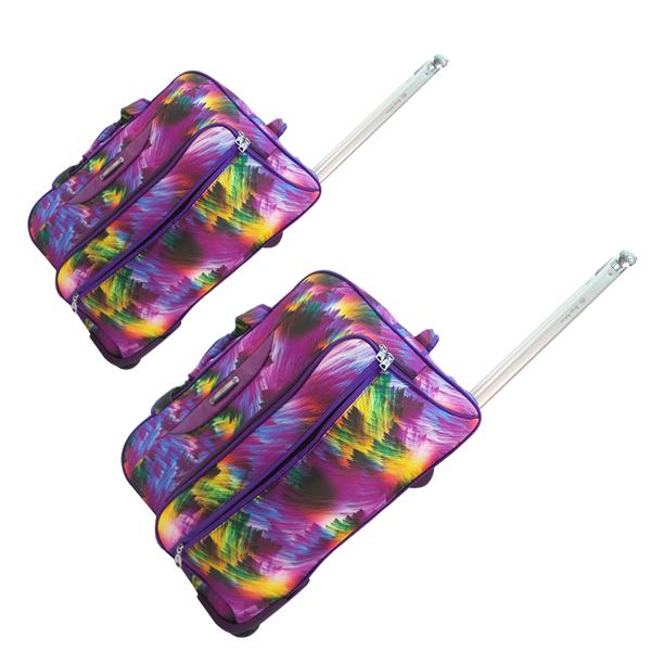 Комплект дорожных сумок Borgo Antico на колесах. 360 nabor purple (19/22)