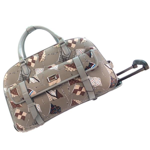Дорожная сумка на колёсах. 8707 grey