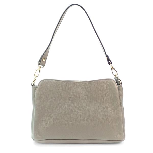 Женская сумка Borgo Antico. Кожа. 0778 grey