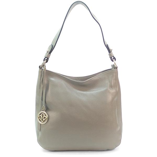 Женская сумка Borgo Antico. Кожа. 0823 grey