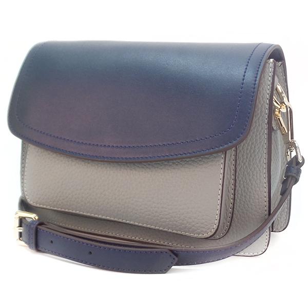 Женская сумка Borgo Antico. Кожа. 2033 blue/flaxseed