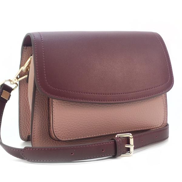 Женская сумка Borgo Antico. Кожа. 2033 mulberry/pink