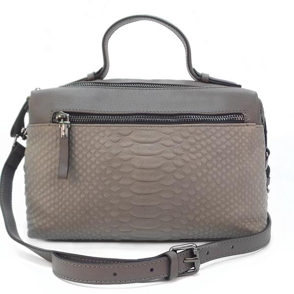 Женская сумка Borgo Antico. Кожа. 2356 grey
