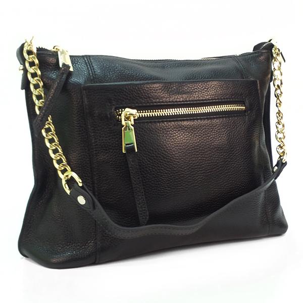 Женская сумка Borgo Antico. Кожа. 5061 black