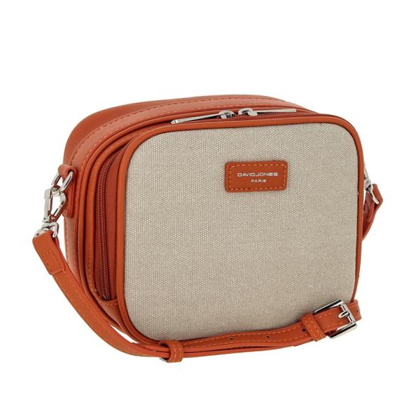 Женская сумка David Jones. 5758-1 beige/orange