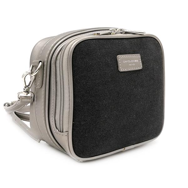 Женская сумка David Jones. 5758-1 black-silver