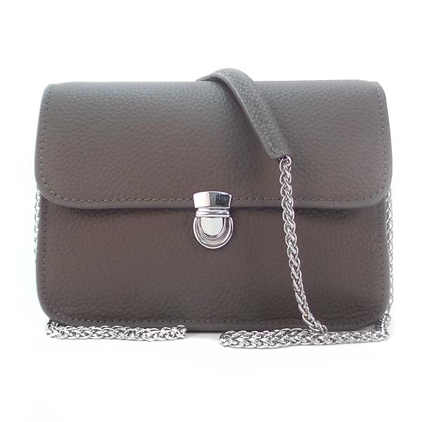 Женская сумка Borgo Antico. Кожа. 6201/6021 dark grey