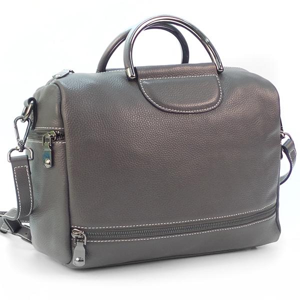 СКИДКА. Женская сумка Borgo Antico. Кожа. 66609 dark grey