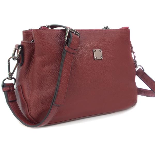 Женская сумка Borgo Antico. Кожа. 77201 wine red