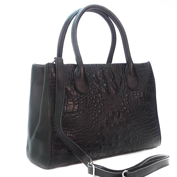 Женская сумка Borgo Antico. Кожа. 8201 black