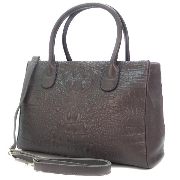 Женская сумка Borgo Antico. Кожа. 8201 silvery grey