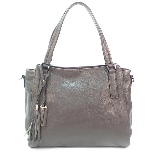 Женская сумка Borgo Antico. Кожа. 8811 grey (NN)