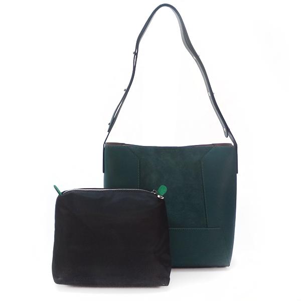 Женская сумка 2в1 Borgo Antico. Кожа+замша. 9169 dark green
