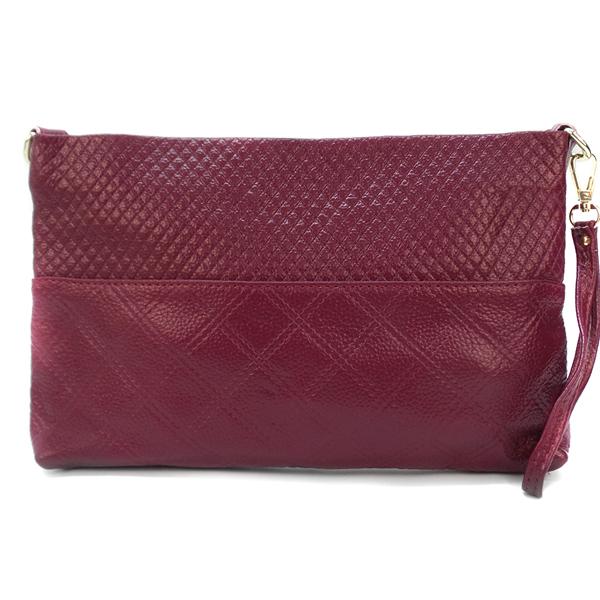 Женская сумка-клатч Borgo Antico. Кожа. 918 fuksia purple