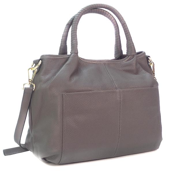 Женская сумка Borgo Antico. Кожа. 9502 grey