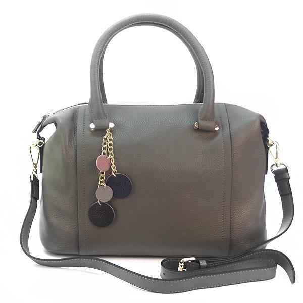 Женская сумка Borgo Antico. Кожа. 9801 grey