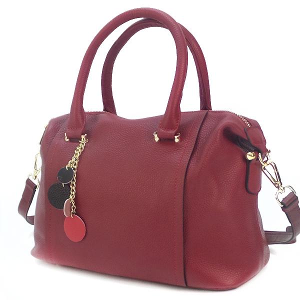 Женская сумка Borgo Antico. Кожа. 9801 wine red