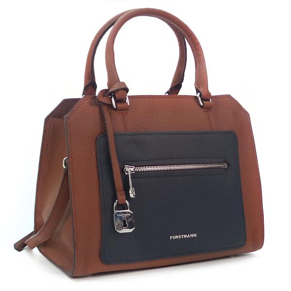 Женская сумка BA Forstmann. Кожа. F-P 107 caramel/dark blue