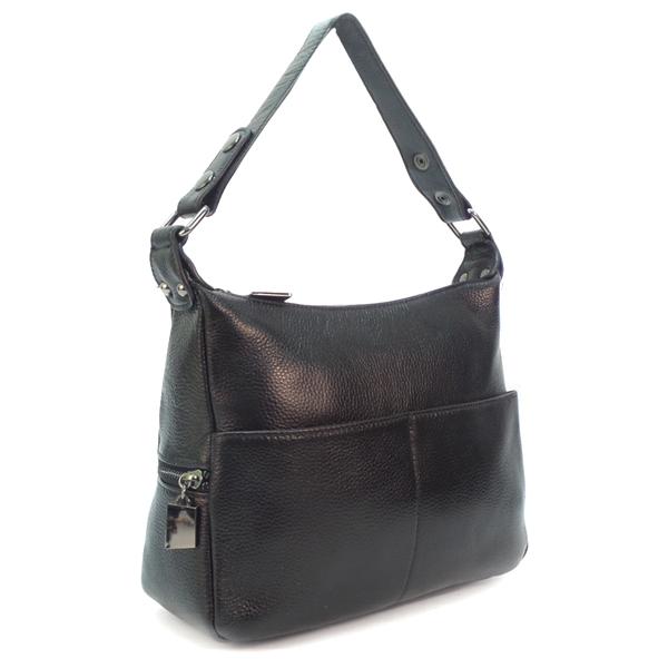 Женская сумка Borgo Antico. Кожа. K 183 black
