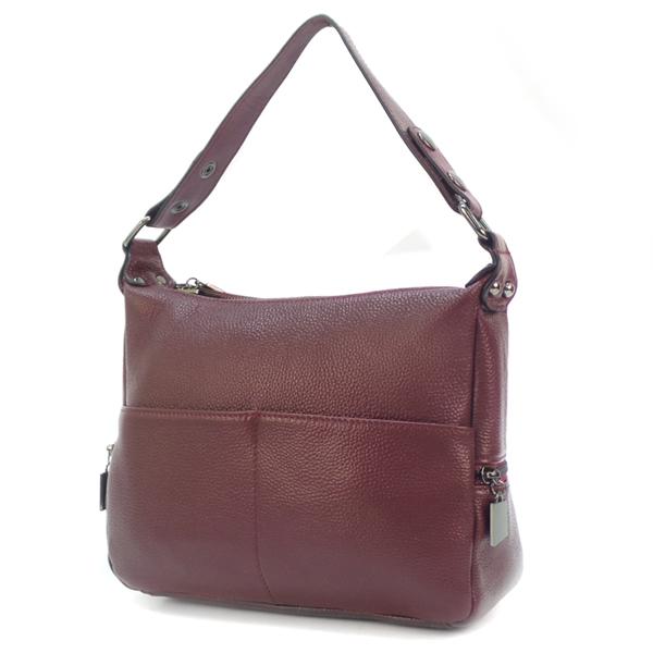 Женская сумка Borgo Antico. Кожа. K 183 plum purple