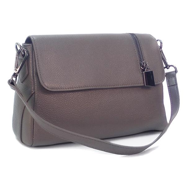 Женская сумка Borgo Antico. Кожа. K 202 d.grey