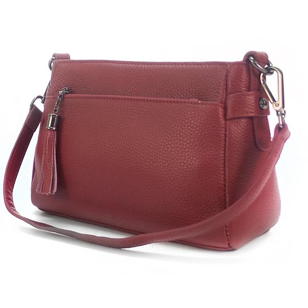 Женская сумка Borgo Antico. Кожа. K 268 burgundy