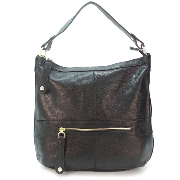 НЕТ В НАЛИЧИИ.  Женская сумка Borgo Antico. Кожа. 0730 black