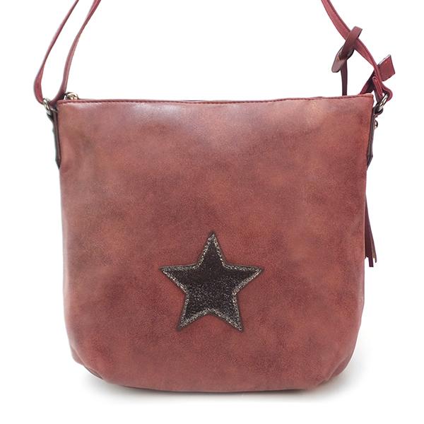 Женская сумка David Jones. 5649-3 bordeaux
