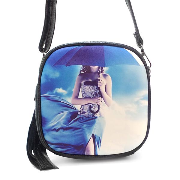 Скидка. Женская сумка Borgo Antico. 601-1 blue