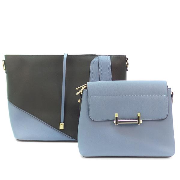 2 в 1. Женская сумка Borgo Antico. F 7371 black blue (NN)