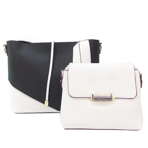 2 в 1. Женская сумка Borgo Antico. F 7371 black white (NN)