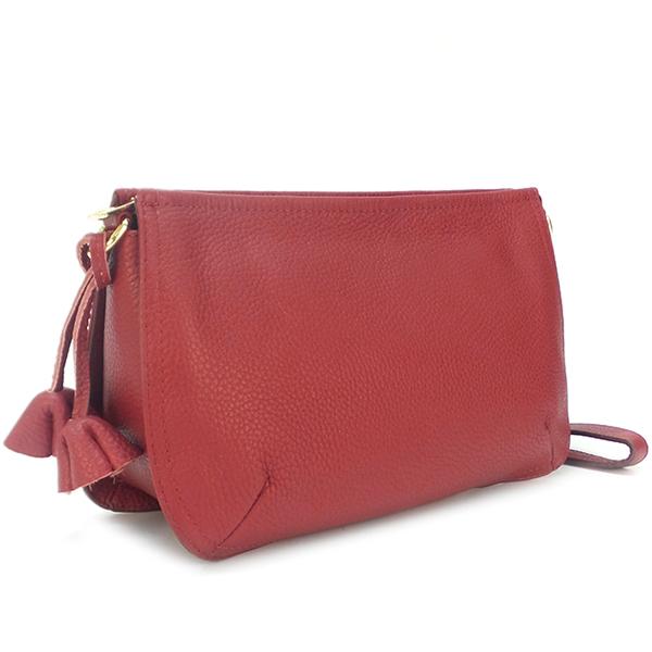 Женская сумка Borgo Antico. Кожа. F 906 claret red